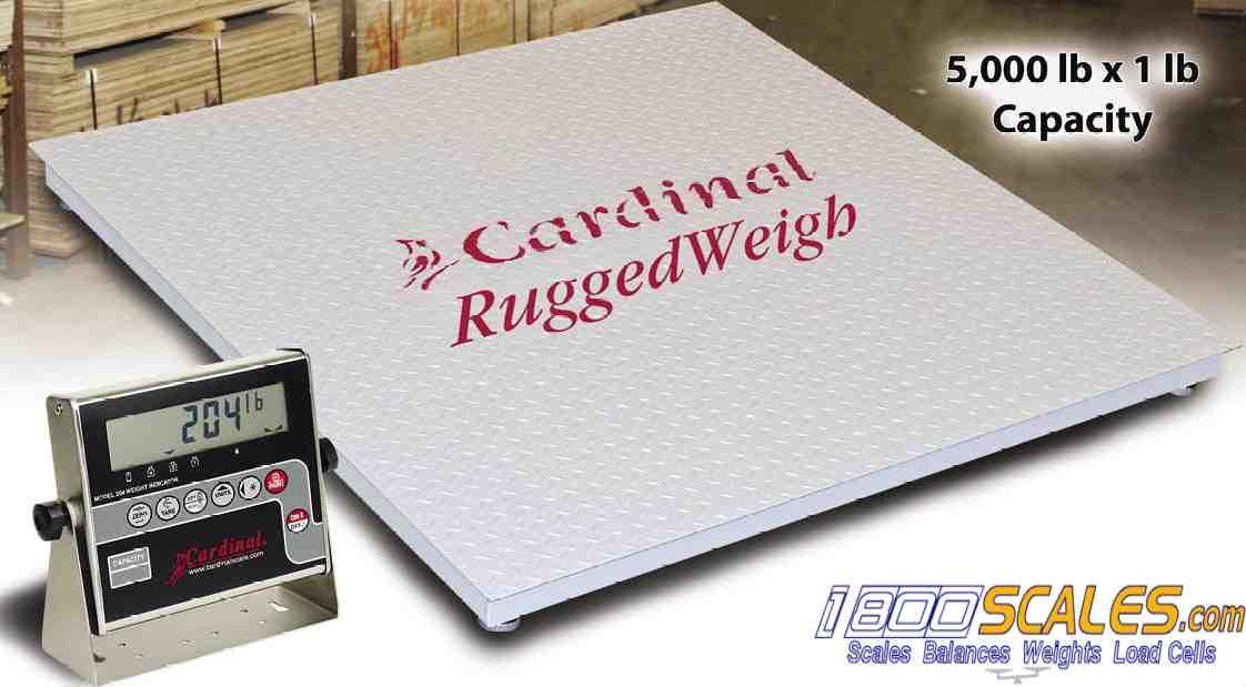 RuggedWeigh Cardinal Platform Floor Scale